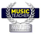 Music Teacher Awards logo with link to awards site