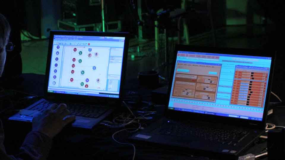 Ensemble and E-Scape running on two computers